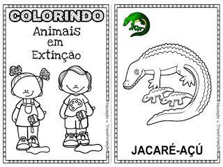 Atividades Para Jardim Colorindo Animais Em Extincao Com