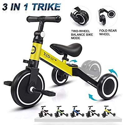 Amazon Com Xjd 3 In 1 Kids Tricycles For 1 3 Years Old Kids