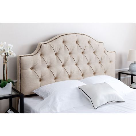 Abbyson Living Royal Tufted Wheat Linen Queen/ Full Headboard - Overstock Shopping - Big Discounts on Abbyson Living Headboards