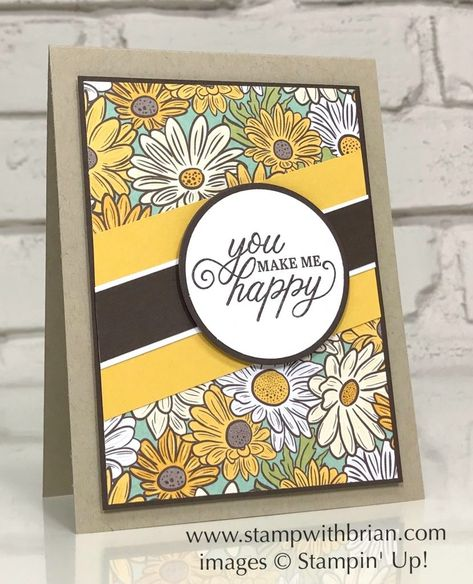 Perfectly Framed, Ornate Garden Specialty Designer Series Paper, Stampin Up! Kiwi Lane Designs, You Make Me Happy, Card Sketches, Paper Cards, Stamping Up, Flower Cards, Homemade Cards, Stampin Up Cards, Paper Design
