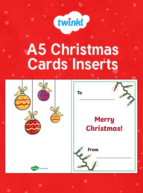 A5 Christmas Card Inserts Personalised Christmas Cards Christmas Cards Printable Christmas Cards