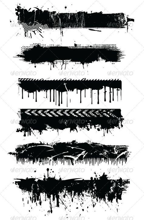 Grunge designs  #GraphicRiver         Set of 6 grunge designs     Created: 25October10 GraphicsFilesIncluded: JPGImage #VectorEPS Layered: No MinimumAdobeCSVersion: CS Tags: banner #black #border #design #designelements #grunge #line #vector #vintage #web #white
