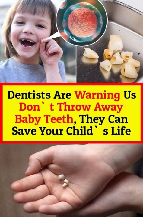 Dentists Are Warning That They Cannot Throw Away The Baby Teeth That They Can Save Their Children S Lives Baby Teeth Dentist Toddler Health