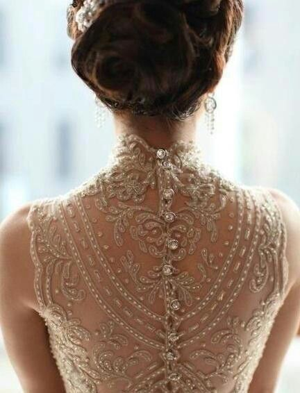 All About The Back Wedding Dress Details Steampunk Wedding