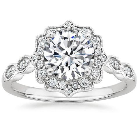 Platinum Cadenza Halo Diamond Ring from Brilliant Earth