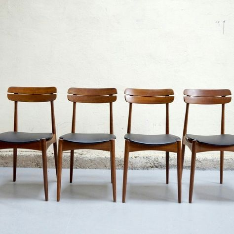 Table Basse Scandinave Teck Design Danois Arrebo Annees 50 60