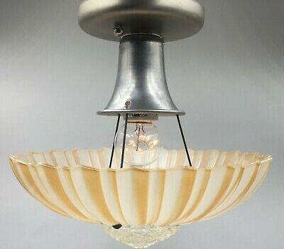 Ad Ebay Url Antique 3 Chain Lighting Fixture Excellent Cond Unique Original Glass U Ceiling Mount Light Fixtures Brass Light Fixture Hanging Ceiling Lamps