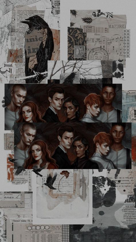 six of crows - Book Wallpaper, Wallpaper Iphone Cute, Cute Wallpapers, Power Girl, Crooked Kingdom, The Grisha Trilogy, Fanart, My Ghost, Ya Books