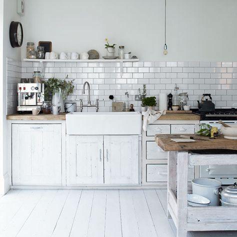 love the subway tiles in this #kitchen! www.budgetbathandkitchen.com