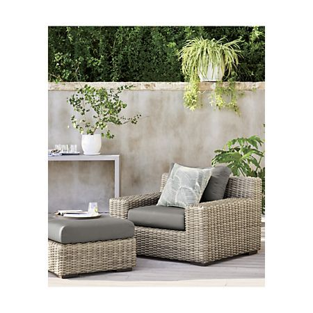 Cayman Outdoor Lounge Chair With Graphite Sunbrella Cushions