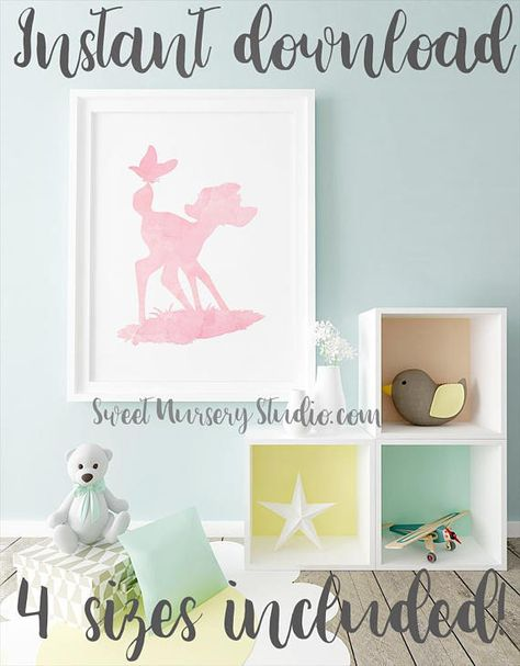 Kids Room Decor Baby Shower Party Movie Picture Nursery Wall Art Poster 11x14 Birthday Bambi Art Print