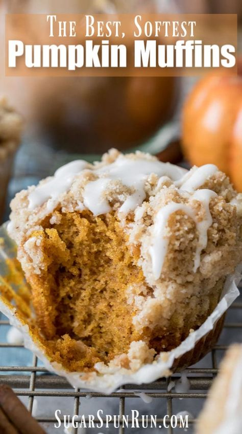 How to make PUMPKIN MUFFINS! Soft, fluffy, and packed with Fall flavor, these muffins are easy to make and are so good! #pumpkinrecipe #pumpkinmuffins #fallrecipe #fallbaking