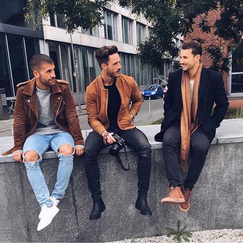 "aquatty: ""coolcosmos: ""Kosta W., Daniel F. & Sandro "" Daily streetwear over here"