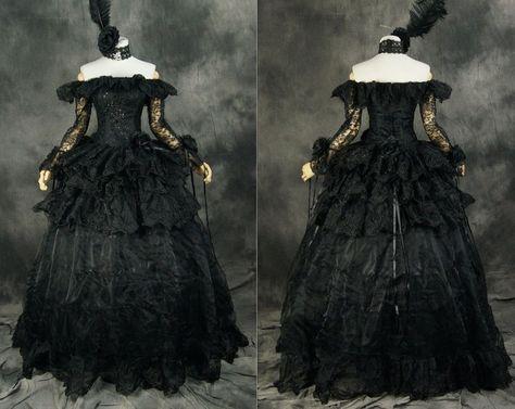 H-331 S/M/L/XL/XXL black Victorian Gothic Cosplay Kleid dress Kostüm costume