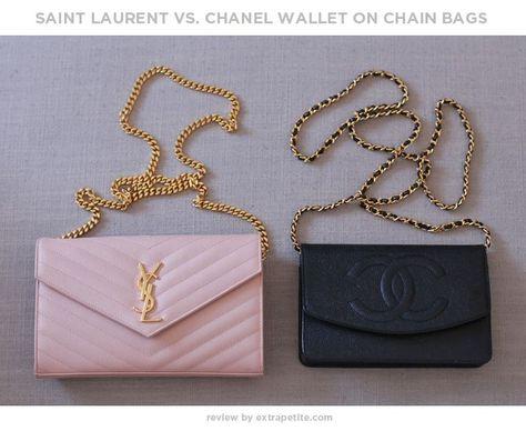 3fa6a3027a3 Bag review  YSL Saint Laurent wallet on chain   Cassandre purse (in  comparison to Chanel WOC)