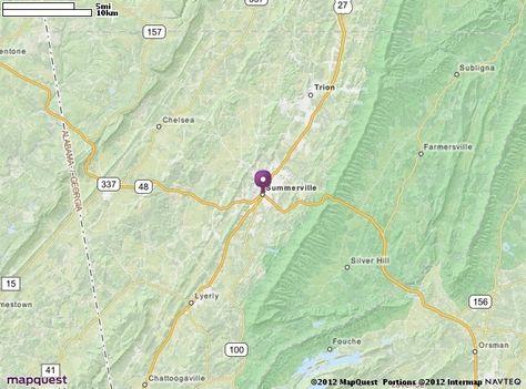 Summerville GA Map MapQuest My Home In North Ga Pinterest - Mapquest macon ga