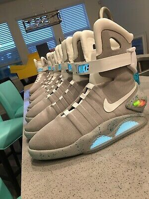Air Mag Back To The Future Ebay Nike Mag Latest Nike Mag For Sales Nike Nikemag In 2020 Nike Mag Boxing Shoes The Future Movie