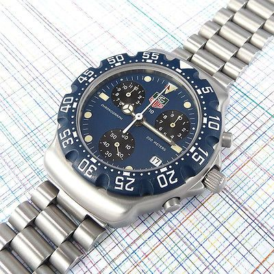 Tag heuer formula 1 chronograph #570.513, blue #dial, new #bezel, #bezel ratchet e, View more on the LINK: http://www.zeppy.io/product/gb/2/182163394825/