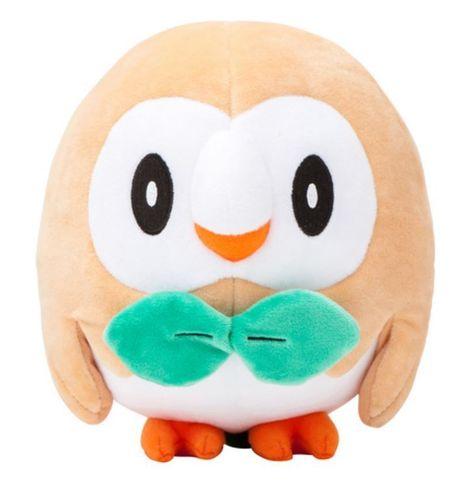 Banpresto Rowlet Plush Doll Sun /& Moon Pokemon Stuffed Animal Owl 8 Inches