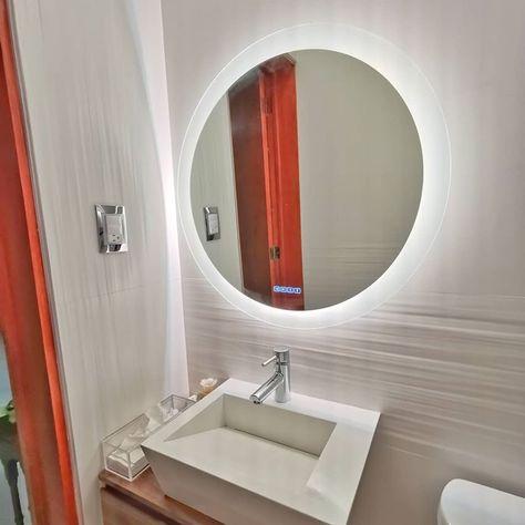 Espejo Redondo Con Luz Led Touch En 2020 Con Imagenes Espejos