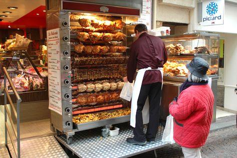 Gosnet Rôtisserie, 121 Mouffetard (Paris Maria's favorite lunch in Paris. Pay the extra euro and get the poulet fermier.