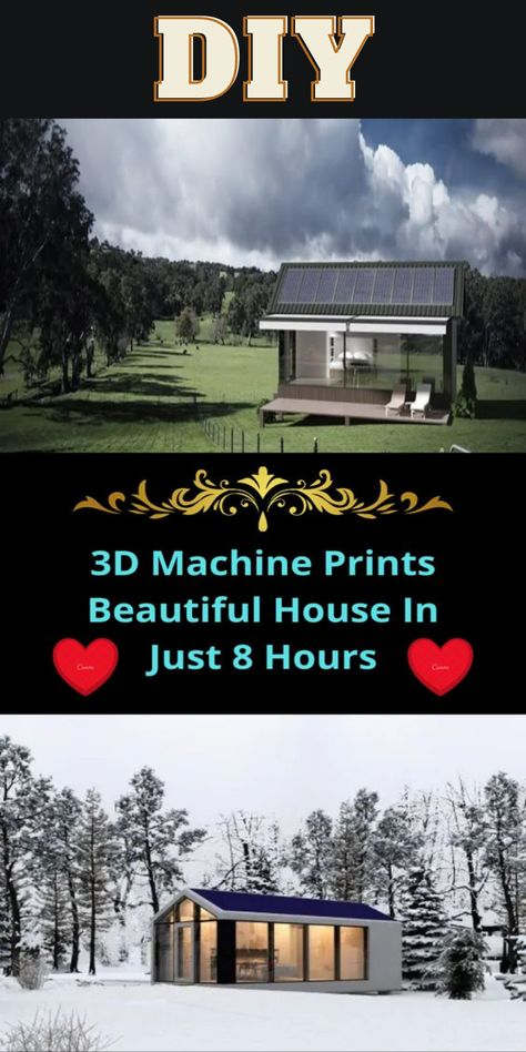 DIY Tips Tricks LifeHacks Ideas Nifty Ways Machine Prints Beautiful House In Just 8 Hours