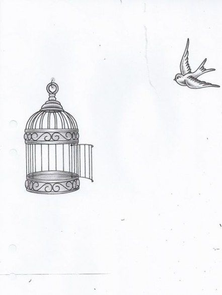 Trendy Bird Flying Out Of Cage Tattoo Simple 27 Ideas Cage Tattoos Birdcage Tattoo Small Bird Tattoos