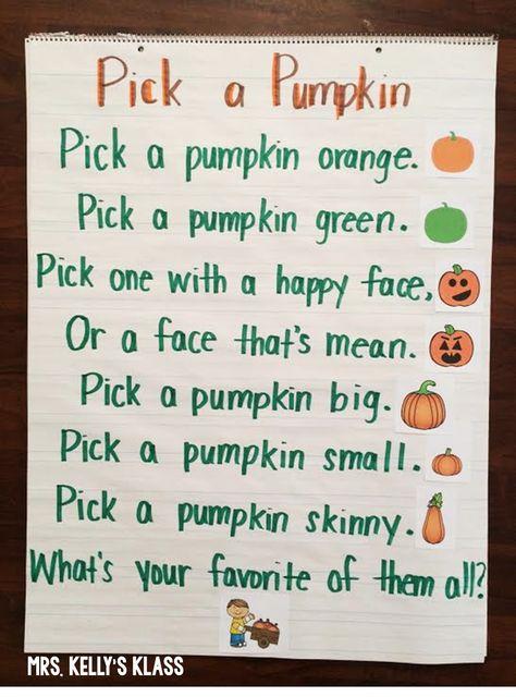 Cute poem for pumpkins.