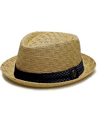 Pamoa Unisex Pms540 Summer Porkpie Straw Fedora Hats 3 Colors L Xl Brown Hats For Men Straw Fedora Hat Straw Fedora