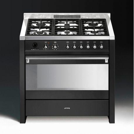 Cucine In Acciaio Inox Usate.Smeg Cs19a 7 Cucina Antracite Acciaio Inox 90x60 Cerca Compra