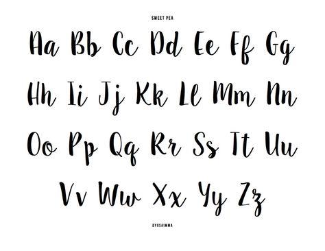 sweet pea font # 24