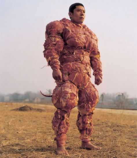 Meat Armour... So you can drag along all dogs you come in contact with during battle.