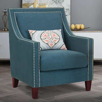 Edwin Fabric Chair Navy Not Tesla Costco Chair Fabric Blue
