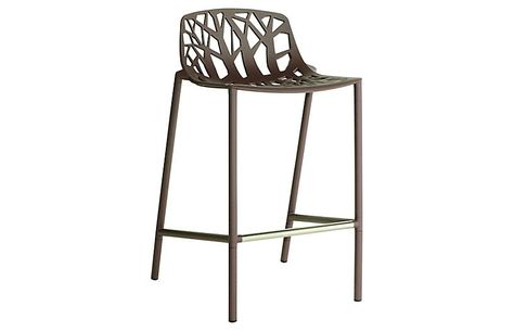 Astounding Forest Low Back Counter Stool Espresso Janus Et Cie Bralicious Painted Fabric Chair Ideas Braliciousco