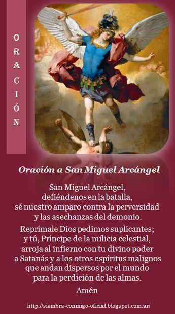 Oración A San Miguel Arcángel Miracle Prayer Prayer For Family Catholic Prayers