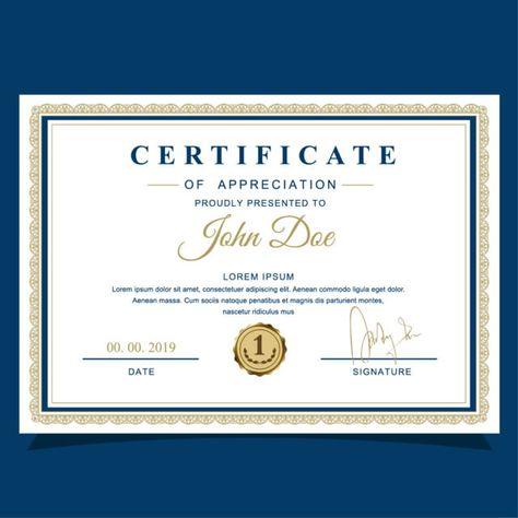 شهادة تقدير Certificate Of Appreciation Certificate Design Certificate Templates