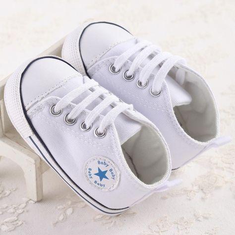 Toddler Newborn Baby Girl Boy Soft Crib Shoes Canvas Sneaker Anti-slip Prewalker