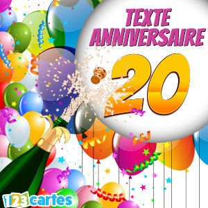 joyeux anniversaire 20 ans