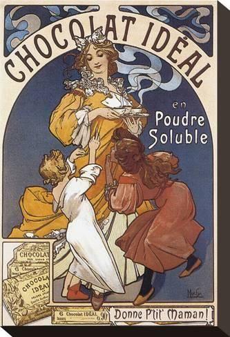 Chocolat Ideal En Poudre Solubleby Alphonse Mucha Art Nouveau