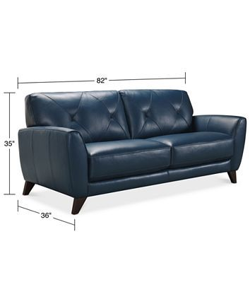 Furniture Myia 82 In 2020 Leather Sofa Blue Leather Sofa Faux Leather Couch