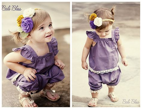 Cute little outfit and cute little girl, not ready for grand daughters but keep for one day.