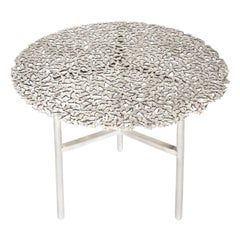 Confetti Indoor Outdoor Side Table Medium In Midnight Terrazzo And