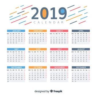 Download Beautiful 2019 Calendar Design For Free カレンダーのデザイン カレンダーテンプレート カレンダー
