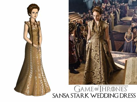 Game Of Thrones Sansa Starks Gold Wedding Dress