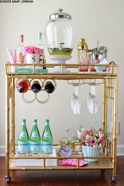 I definitely intend to have a drinks trolley.....with at least one bottle of bubbles!