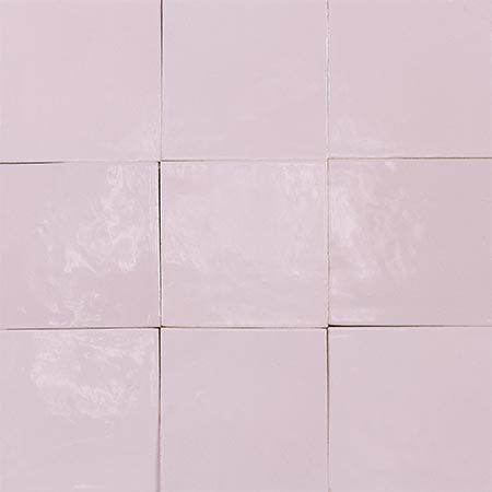 Colour 1084 Soft Pink Lilac Zellige 10x10 Cm From Mosaic Factory Online Shop Worldwide Shipping Azulejo Marroqui Marokk Tiles Moroccan Tiles Pink Tiles