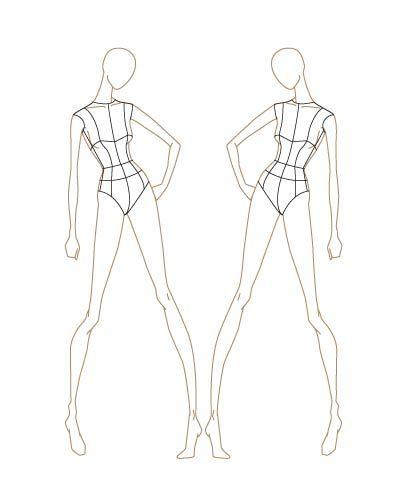 Fashion Sketch Templates Ilration Template Design