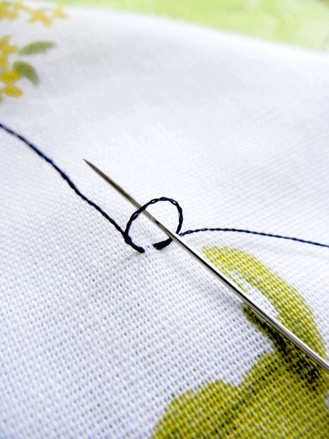 How to start hand sewing without knotting the thread.