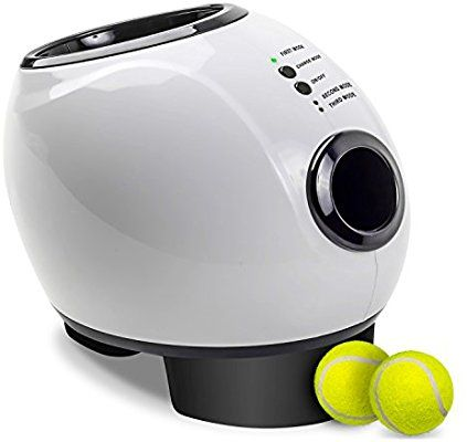 Amazon Com Paws Pals Automatic Dog Ball Launcher Toy Interactive Throw And Fetch Mini Tennis Balls Machine With T Dog Ball Dog Ball Launcher Ball Launcher
