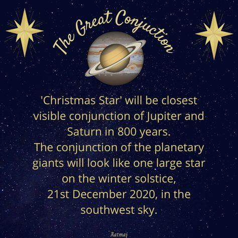 #TheGreatConjuction #ChristmasStar will be closest visible conjunction of Jupiter and Saturn in 800 years. The conjunction of the planetary giants will look like one large star on the winter solstice, 21st December 2020, in the southwest sky. #jupitersaturnconjunction #jupiter #saturn #solistice #thegreatconjunction2020 #21stdecember2020 #Saturn🪐 #Shanidev #DevGuru #Dharma #Karma #GrahYudh #neechbhangyog #devgurubrihaspati #karmphaldatashani #Aatmaj #Aatmaj444 #Hindi #karma♻️ #karmabeliever #
